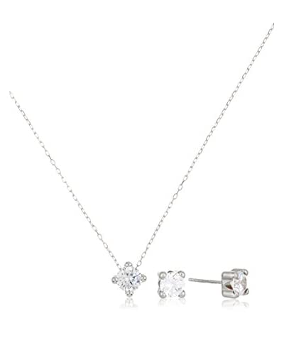 Gold & Diamonds Set Collier und Ohrringe 18 Karat (750) Weißgold