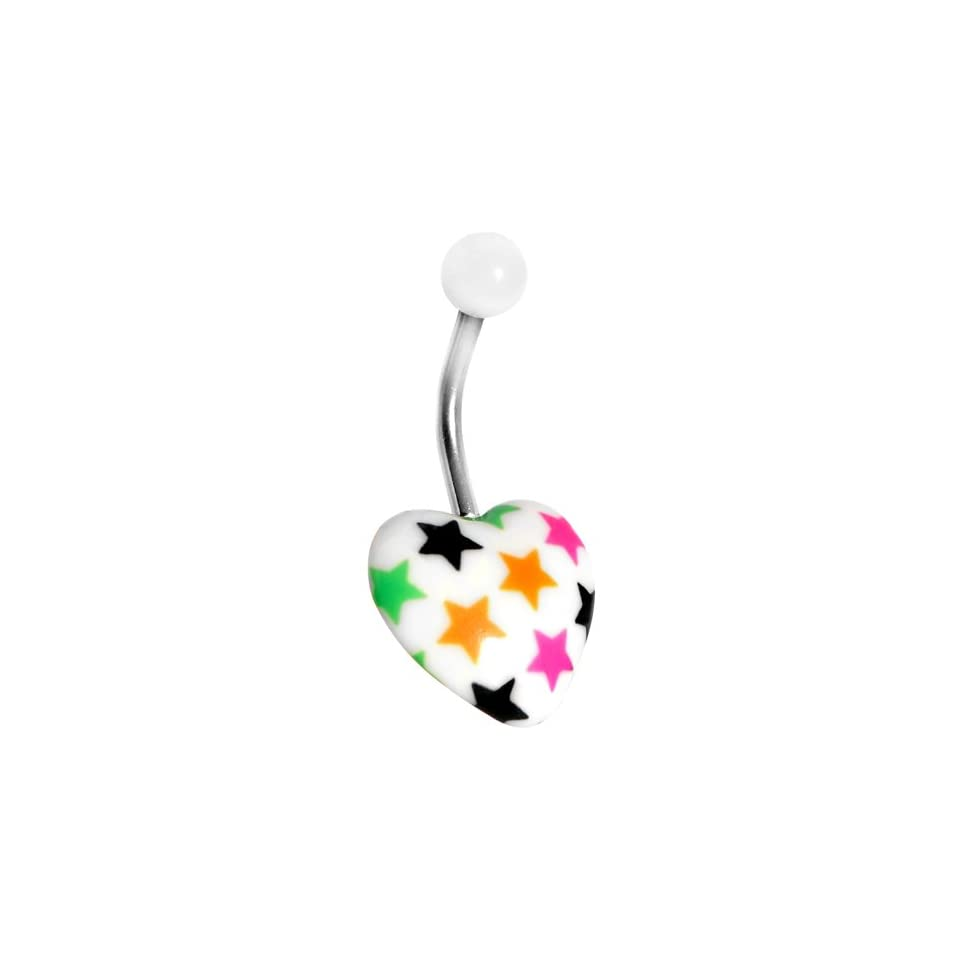 Star Spangled Heart Belly Ring