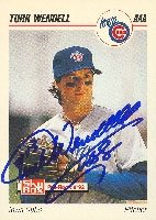 Turk Wendell Iowa Cubs - Cubs Affiliate 1992 Skybox Pre Rookie Autographed Hand... by Hall of Fame Memorabilia