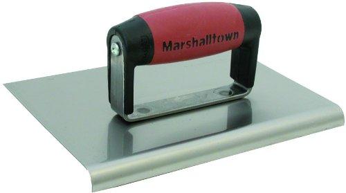 MARSHALLTOWN The Premier Line 166SSD 6-Inch x 4-Inch Stainless Steel Edger-1/2-Inch Radius, 5/8-Inch Lip DuraSoft Handle