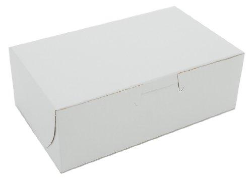Southern Champion Tray 0911 Premium Clay Coated Kraft Paperboard White Non-Window Lock Corner Bakery Box, 6-1/4