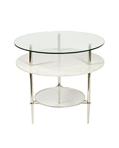 Jamie Young Pathara Focal Table, Chrome