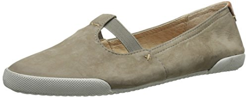 pictures of FRYE Women's Melanie T Strap Bufnu Fashion Sneaker, Grey, 7.5 M US