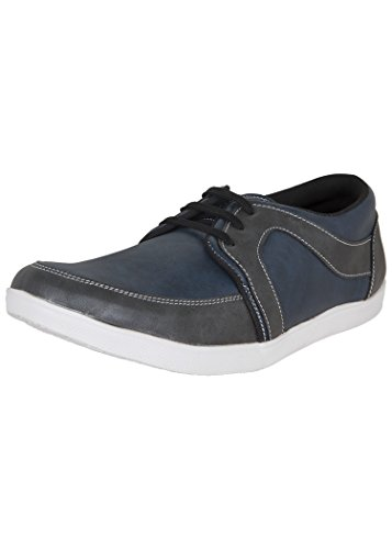 Zovi Men's Synthetic Blue Lace-up Casual Shoes With Overlay Detail (10861700701)