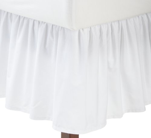 Find Discount Fresh Ideas Ruffled Poplin Bedskirt Queen, White