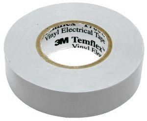 "3M Temflex 1700C Vinyl General Use Electrical Tape, 0 to 180 Degree C, 1000 mV Dielectric Strength, 60' Length x 3/4"" Width, Gray"