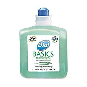 3 Pack Basics Foaming Hand Soap Refill, 1000 mL, Honeysuckle by DIAL (Catalog Category: Office Maintenance, Janitorial & Lunchroom / Bathroom Supplies)