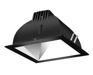 Rab Lighting Ndled4S-Wy-S-B Led Trim Mod- 4 Square 3K Wall Wash Black Ring With Spec Cone