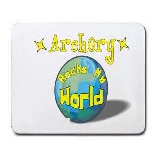 Archery Rock My World Mousepad