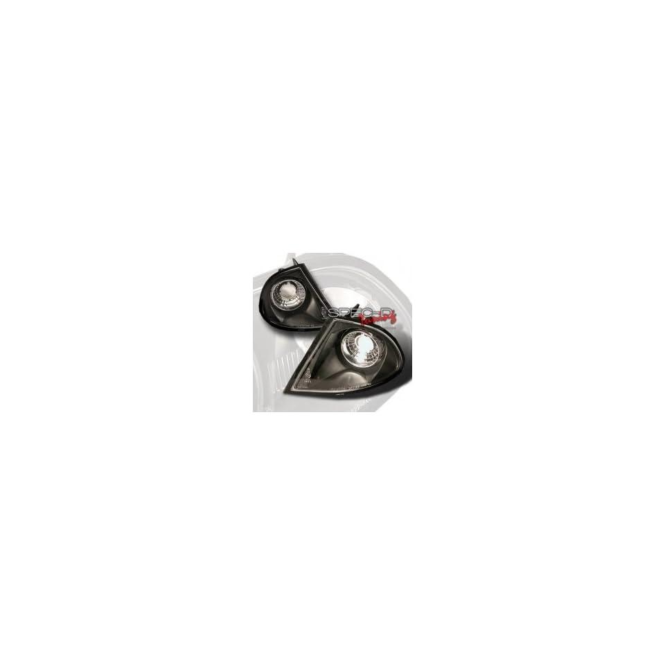 Spec D 99 02 BMW E46 4Dr Corner Lights   Black