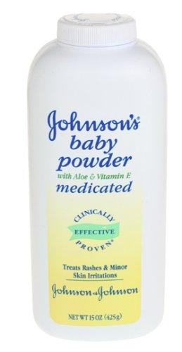 Johnson's Baby Powder Medicated with Aloe & Vitamin E, 15 Ounces