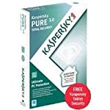 Kaspersky PURE 3.0 Total Security Software 1 year 3 User Box