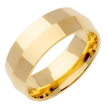 14K Gold Traditional Knife Edge Women'S Wedding Band (8Mm) Size-8