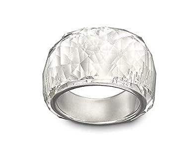 Swarovski Women 9 k (375) Silver Crystal Rings