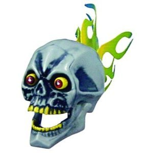 Skull Flaming Antenna Ball Topper