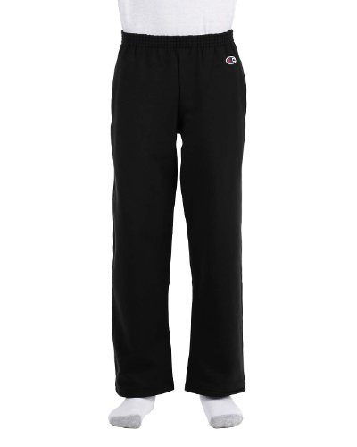 Champion Youth Eco� 9 oz.; 50/50 Open-Bottom Pants - BLACK - XL