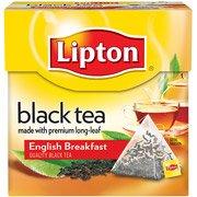 Lipton English Breakfast Black Tea Pyramid Tea Bags, 18 Count, 1.2 Oz(Case Of 2)