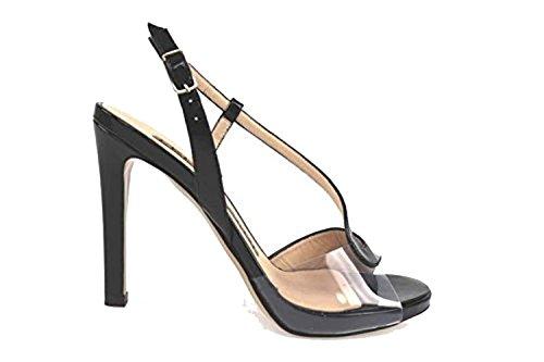 Scarpe donna LELLA BALDI 36 sandali nero vernice AP828