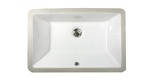 For Sale! Nantucket Sinks UM-19x11-W 19-Inch  by 11-Inch  Rectangle Ceramic Undermount Vanity Sink, ...