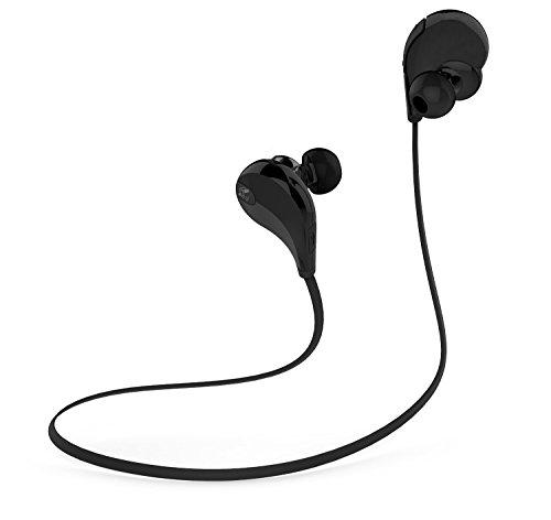 SoundPEATS(サウンドピーツ) Bluetooth イヤホン 高音質 ヘッドセット スポーツ仕様 生活防水 QY7 (ブラック)