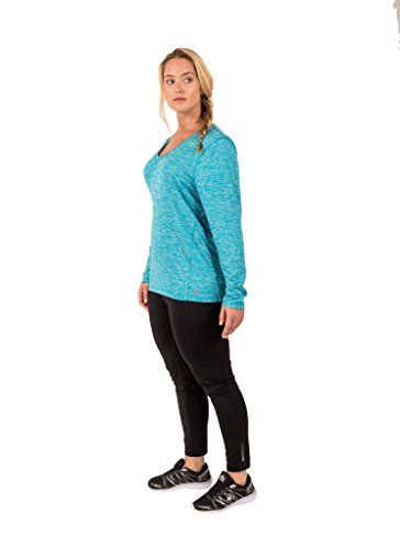 Rbx Active Women 39 S Plus Size Space Dye Long Sleeve Light V