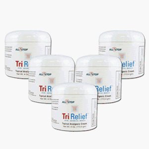 All Stop TriRelief-5 Pack :: Non-Toxic Arthritis and Carpal Tunnel Pain Relief