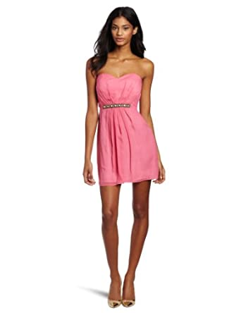 Twelfth Street by Cynthia Vincent Women's Party Dress With Embellished Waist, Pink, Small