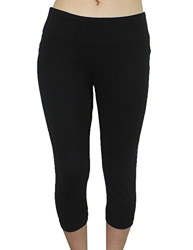 bally-total-fitness-damen-sports-dunne-gamaschen-yoga-capri-hosen-l-schwarz