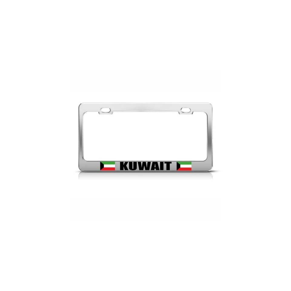 RUSSIA RUSSIAN FLAG COUNTRY License Plate Frame Stainless Metal Tag Holder