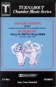 Mendelssohn: Octet in E-Flat Major for Strings Op. 20 Schubert: Trio in B-flat major for... by Felix Mendelssohn,&#32;Franz Schubert,&#32;Chamber Music Ensemble of the Bamburg Symphony Orchestra,&#32;Bell 'Arte String Trio and Susanne Lautenbacher