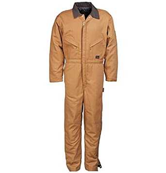 Walls Mens Duck Insulated Waist Zip Coveralls by Walls