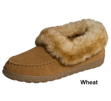 Image of Cloud Nine Juliet Fur Trimmed Moc Wheat Women's Shoe 9 (B005F0XAUC)