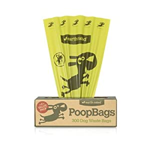 300 Earth Rated Dog Waste Poop Bags for Pantries and Waste Stations, Lavender Scented, 300-Count from Earth Rated