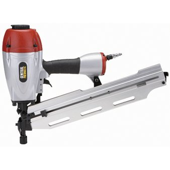 """3-in-1 Air Framing Nailer with adjustable magazine for 2"""" to 3-1/2"""" clipped or full-head nails collated at 21°, 28° and 34°"""