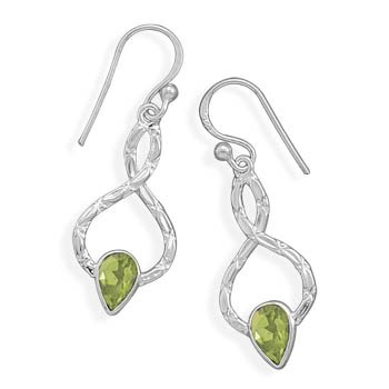 Textured Peridot Earrings