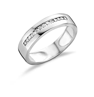 Miore 18ct White Gold Eternity Ring with Diamond