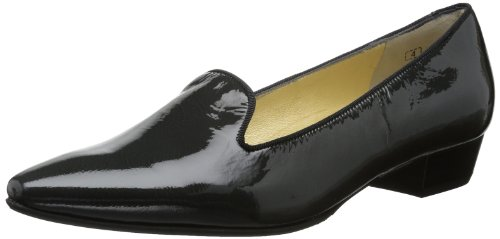 Peter Kaiser LUCIE Pumps Womens Gray Grau (carbon Latek/schwarz Ripsband) Size: 39.5