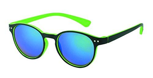 Occhiali da sole Chic-Net su John Lennon ricorda 400UV serratura colori ponte neon verdi