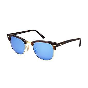 Silver Kartz Luxury Mercury Clubmaster Semi-Rimelss Unisex Sunglasses (wy128|30|Blue Mercury)