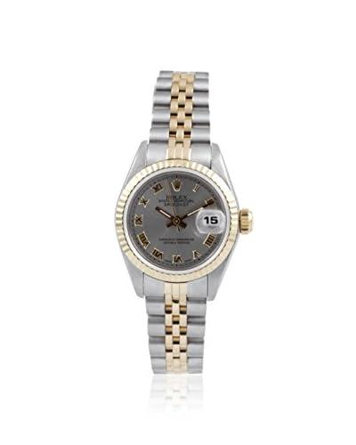 Rolex Women's Datejust Slate Roman Stainless Steel/18K Yellow Gold Watch