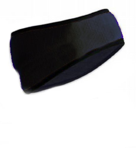 Polar Fleece Headband With Earmuff – Black