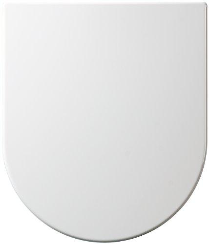 Short Projection Compact D Shape One Button Quick Release Soft Close White Toilet Seat