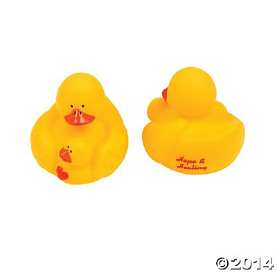 Hope and Healing Rubber Ducks - 12 pcs