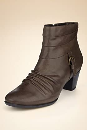 Footglove Leather Pleated Ankle Boots [T02-8539-S]
