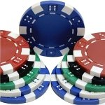 1000 11.5 gram Dice Striped Poker Chips -Wholesale Price