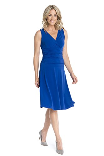 Rekucci Women's Slimming Sleeveless Fit-and-Flare Tummy Control Dresses (18