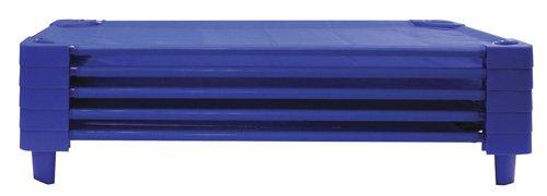 ECR4Kids ELR-16113 Stackable Assembled Kiddie Cot, Toddler Size, Blue, 5-Pack