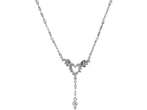 Wholesale Set Of 12, Michele Caruso Spiked Heart With Wings Open Link Necklace (Jewelry, Necklaces), $6.69/Set Delivered
