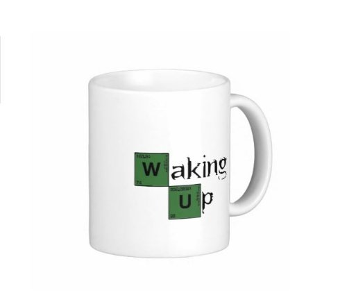 Pair Of Waking Up Breaking Bad 15 Ounce Coffee Mugs - Custom Coffee / Tea Cups - Dishwasher And Microwave Safe