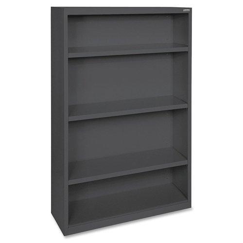 Lorell LLR41288 Fortress Series Steel Book Case, Black Series Steel 3 Shelf Bookcase